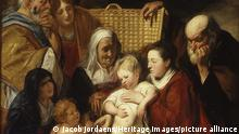 The Holy Family with Saint Anne and the Young Baptist and His Parents, early 1620s and 1650s. (Heritage Art/Heritage Images)