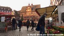 Themenbilder | Tübingen und Corona: Tübinger Marktplatz mit Markt