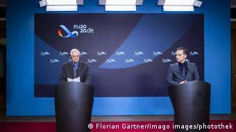 AB Dış İlişkiler Yüksek Temsilcisi Josep Borrell ve Almanya Dışişleri Bakanı Heiko Maas