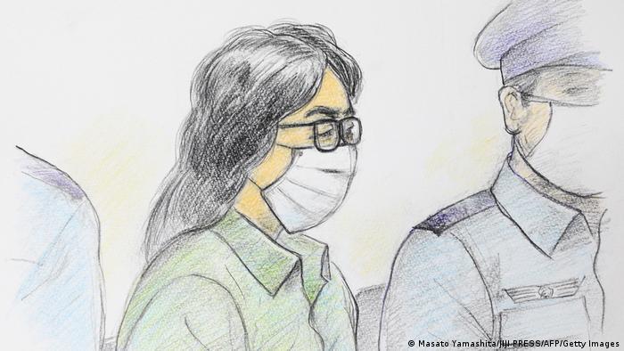 Japan Gerichtsskizze vom Twitter Killer
