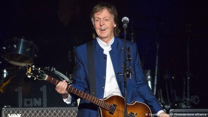 McCartney at a concert in Tampa, Florida.