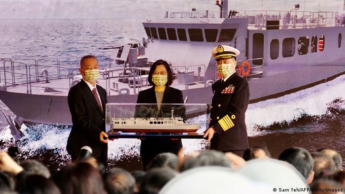 Auch Taiwan bleibt nicht untätig: Präsidentin Tsai Ing-wen stellte Mitte Dezember neue Schnellboote für die Marine vor