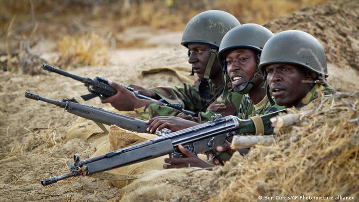 Baadhi ya wanajeshi wa Kenya wanaopambana na wanamgambo wa Alshabaab nchini Somalia. (Picha ya maktaba)