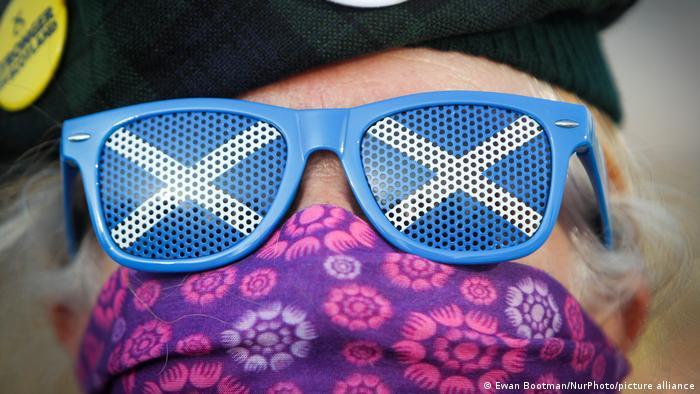 Sunglasses and Scottish flag
