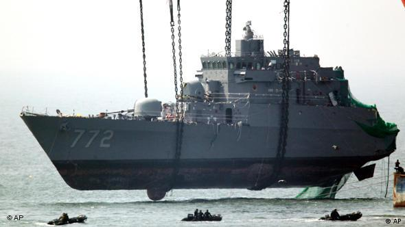 Südkorea Kriegsschiff Bergung