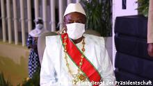 *** Bitte nur in Zusammenhang mit der Berichterstattung verwenden *** Amtseinführung des Präsidenten von Guinea, Alpha Condé, am 15. Dezember 2020. via Eric Topona