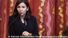 Mayor of Paris Anne Hidalgo, along with Military Governor of Paris General Christophe Abad and Junior Minister of Remembrance and Veterans Affairs Genevieve Darrieussecq, visits the exhibition on General de Gaulle and pays homage to Operation Sentinel Soldiers at the city hall Paris, France on December 8, 2020. Photo by Pierrick Villette/Avenir Pictures/ABACAPRESS.COM