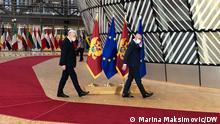 Belgien | Brüssel | Zdravko Krivokapić mit EUCO-Präsident Charles Michel