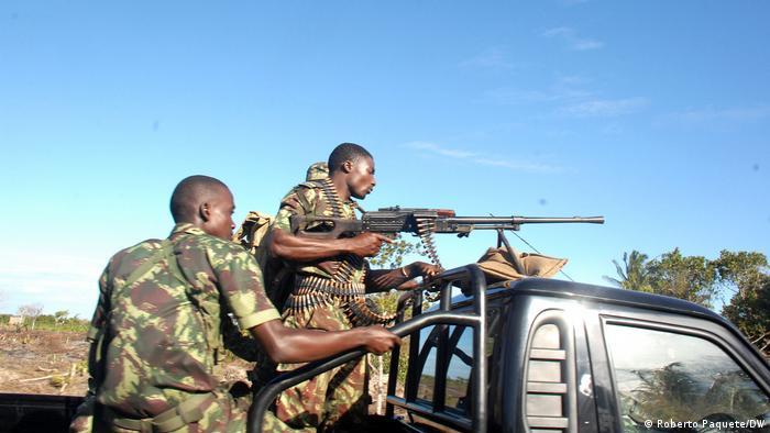 Forças do Governo de Moçambique em Mocímboa da Praia, palco de vários ataques