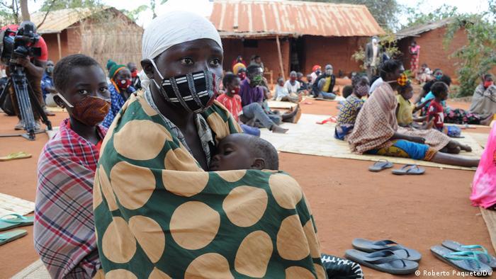 Deslocados internos do conflito em Cabo Delgado