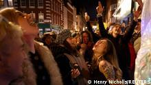 UK Letzte Nacht vor dem Lockdown in London