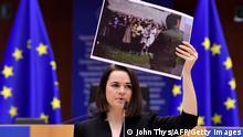 Belgien I EU I Svetlana Tikhanovskaya