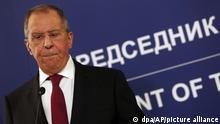 Russlands Außenminister Lawrow zu Besuch in Serbien