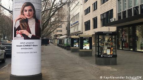 Lockdown in Berlin   Kurfürstendamm