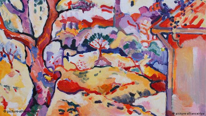 Georges Braque's 'Olive Tree Near Estaque' 1907 (picture-alliance/dpa)