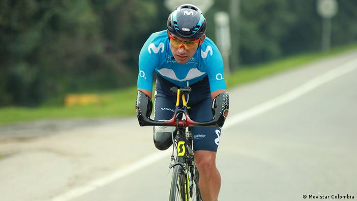 Kolumbien Der Radfahrer Juan José Florian