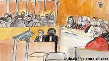 Frankreich Zeichnung zum «Charlie Hebdo»-Prozess