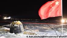 China Rückkehr Chang'e-5 Mond Sonde
