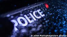 Frankreich Polizeiauto-Logo