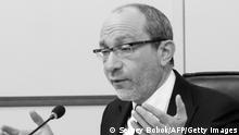 A picture taken on March 11, 2014 shows pro-Russian mayor of the town of Kharkiv in eastern Ukraine Gennady Kernes speaking during the city council in Kharkiv. Kernes was in critical condition on April 28, 2014 after he was shot while riding his bicycle, local officials said. Kernes was hit by a bullet in the back during an attack by an unidentified gunman, a town hall official said. He is being operated on. Doctors are fighting for his life. AFP PHOTO/ SERGEY BOBOK (Photo credit should read SERGEY BOBOK/AFP via Getty Images)