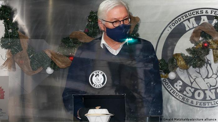 Акция с участием главы государства проходила перед одним из храмов в берлинском районе Шёнеберг