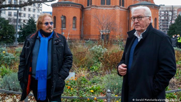 Певец Франк Цандер и федеральный президент Франк-Вальтер Штайнмайер