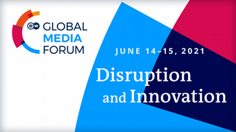 DW Global Media Forum 2021 Banner