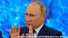 Russland Moskau | Pressekonferenz Vladimir Putin