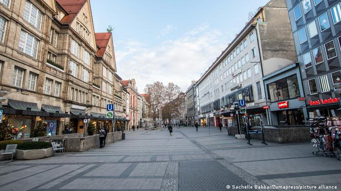 Scenes from the pedestrian zone in Munich, Germany