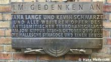 Halle Saale | Gedenktafel Synagoge