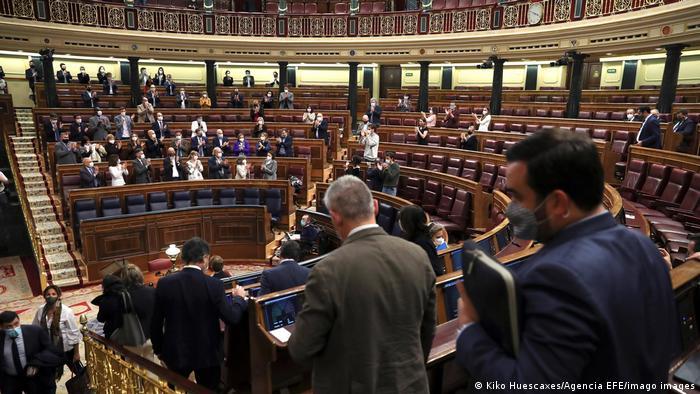 Sesión en el Parlamento español sobre la eutanasia. (17.12.2020).