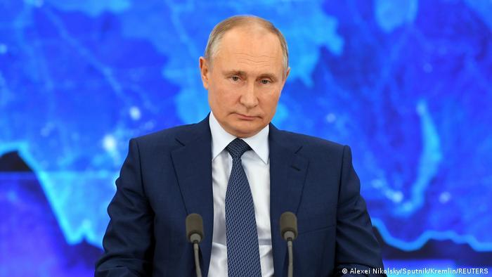Russland PK Präsident Putin in Moskau