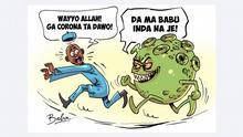 Karikatur Die 2. Corona-Welle in Nigeria