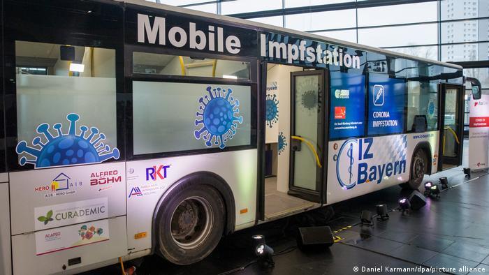 Мобільна станція вакцинації в Нюрнберзі