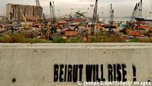 Libanon Beirut Graffiti Beirut will rise