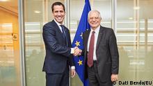 Belgien Brüssel Juan Guaidó mit Josep Borrell, EU Aussenminister