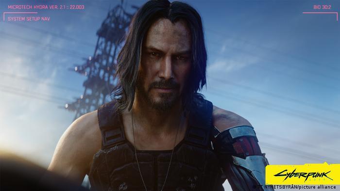 Keanu Reeves jako bohater Cyberpunka 2077 Johnny Silverhand
