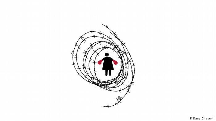 هرکدام از زنان کارتونیست که از شهرهای مختلف ایران در این کارگاه مجازی شرکت کرده بودند موضوعی را انتخاب کردند و کارتونها را در شهر و خانه خود کشیدند. کارتونیست: رعنا قاسمی