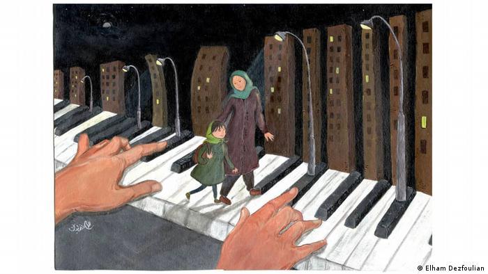 موسیقی و نور زیربنای شهری است که الهام دزفولیان ساخته تا شهروند زن در آن احساس امنیت کند. کلیدهای پیانو این شهر را دستی مینوازد به گونه ای که با هر ضربهای که بر دکمۀ سیاهی میخورد، چراغی در شب روشن میشود و نورش روشنایی و احساس امنیت را به همراه می آورد. نوازنده پیانو، مدیران و گردانندگان شهرهستند که اگر درست بنوازند هنر برقراری امنیت در شهرها را به نمایش میگذارند.