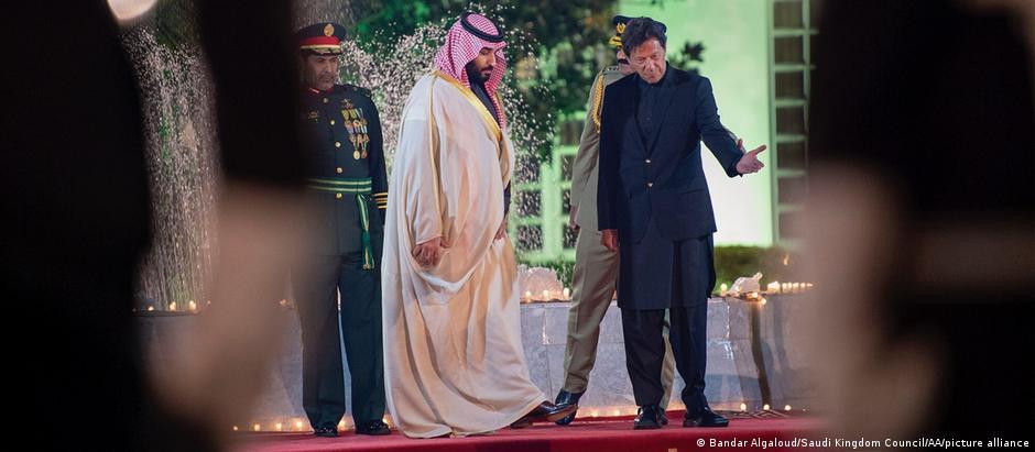 Pakistan Islamabad Mohammad bin Salman und Imran Khan