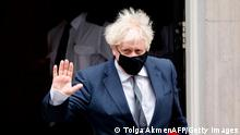 Britain's Prime Minister Boris Johnson leaves 10 Downing Street in central London on December 16, 2020, to take part in the weekly session of Prime Minister Question (PMQs) at the House of Commons. (Photo by Tolga Akmen / AFP) (Photo by TOLGA AKMEN/AFP via Getty Images)