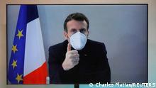 Frankreich Präsident Macron in Covid-19 Quarantäne