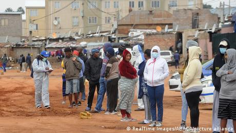 People wearing masks in South Africa