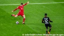 Deutschland Bundesliga Bayer 04 Leverkusen gegen FC Bayern München | Tor Lewandowski