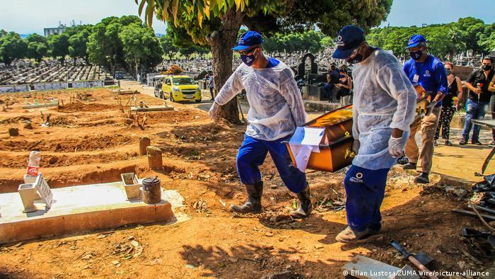 Похороны жертвы пандемии covid-19
