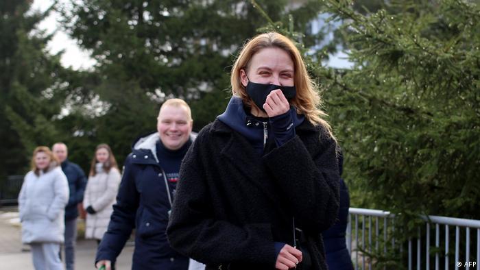 Мисс Беларусь - 2008 Ольга Хижинкова после освобождения