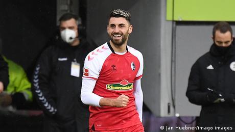 Freiburg's Vincenzo Grifo in action in the Bundesliga