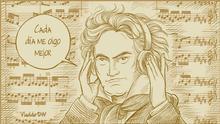 Karikatur Vladdo | Beethoven, unsterblich