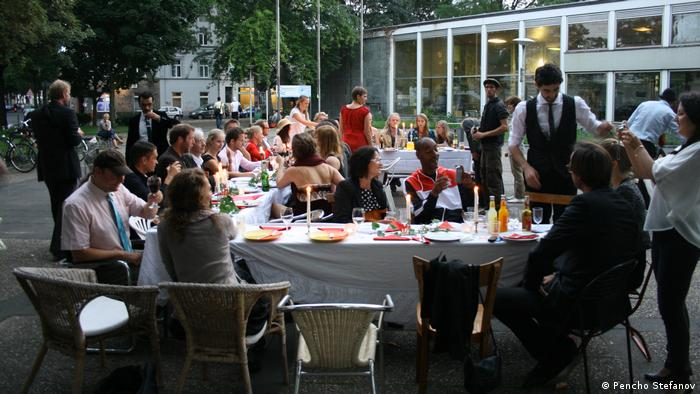"Over the years, Haddad has put on numerous cultural events which he hopes will foster connections, like this ""gala dinner"" outdoors in Bonn 