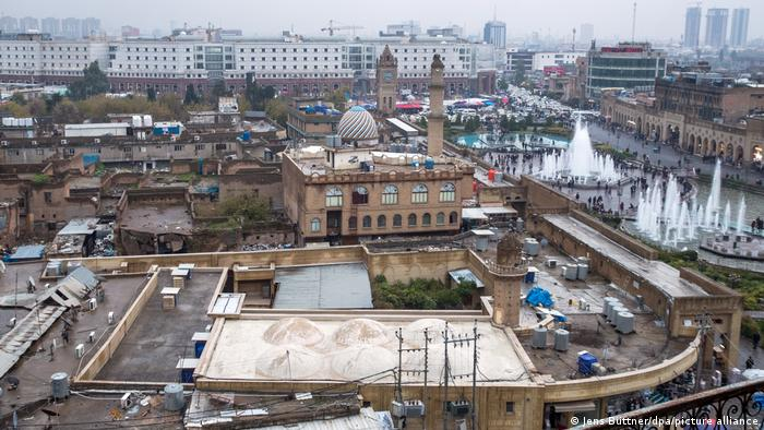 Gazetecilerin gözaltına alındığı Erbil'in tarihi merkezi